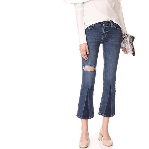 Free People Denim - FREE PEOPLE Color Block Crop Jeans